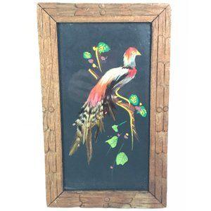 Mexican Feathercraft Mixed Media Handmade Wall Art